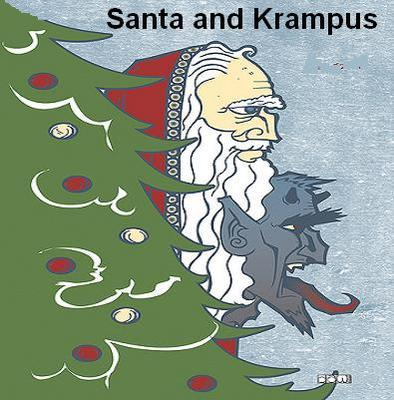 SANTA AND KRAMPUS GOOD COP AND BAD COP